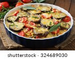 moussaka  eggplant casserole    ... | Shutterstock . vector #324689030