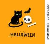 halloween illustration. poster  ...   Shutterstock .eps vector #324699230