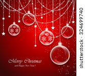 red christmas background with... | Shutterstock .eps vector #324699740