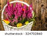 Heather Flowers In Basket...