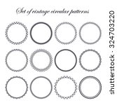 set of round and circular... | Shutterstock .eps vector #324703220