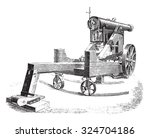 cannon 138m m on modified... | Shutterstock .eps vector #324704186