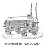 truck  vintage engraved...
