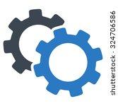 gears vector icon. style is... | Shutterstock .eps vector #324706586