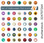 set of halloween flat icons | Shutterstock .eps vector #324707264