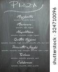 chalkboard pizza menu   Shutterstock . vector #324710096