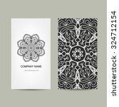 business card design. ornate... | Shutterstock .eps vector #324712154