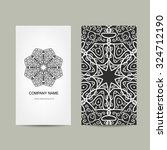 business card design. ornate... | Shutterstock .eps vector #324712190