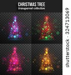 set of transparent shining... | Shutterstock .eps vector #324713069