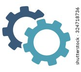 gears vector icon. style is... | Shutterstock .eps vector #324718736