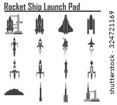space shuttle launch icon. | Shutterstock .eps vector #324721169