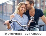city couple loving each other... | Shutterstock . vector #324728030