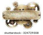 metal collage of clockwork... | Shutterstock . vector #324729308