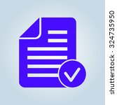 document  with ok  icon.   Shutterstock .eps vector #324735950