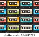 cassette tape seamless... | Shutterstock . vector #324736229