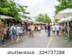 abstract blur tourist shopping... | Shutterstock . vector #324737288