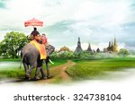bangkok travel concept | Shutterstock . vector #324738104