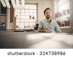 portrait of a small business... | Shutterstock . vector #324738986