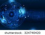 technology digital world of... | Shutterstock . vector #324740420