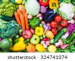 Different Raw Vegetables And...