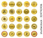 collection gold labels for... | Shutterstock .eps vector #324742436