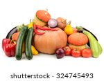 collection fresh vegetables... | Shutterstock . vector #324745493