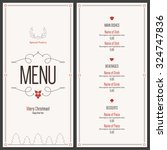 special christmas festive menu... | Shutterstock .eps vector #324747836