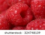 background with raspberry  a... | Shutterstock . vector #324748139
