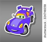 cartoon car sticker for boys... | Shutterstock .eps vector #324748358