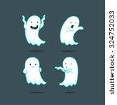 cute ghost  cartoon | Shutterstock .eps vector #324752033
