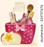make up kit | Shutterstock .eps vector #324757676