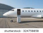 business jet plane on the... | Shutterstock . vector #324758858