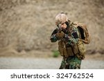 portrait of the special forces... | Shutterstock . vector #324762524