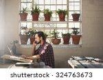 young designer entrepreneur... | Shutterstock . vector #324763673