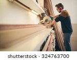 professional craftsman at work... | Shutterstock . vector #324763700