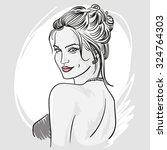 portrait of a beautiful woman.... | Shutterstock .eps vector #324764303