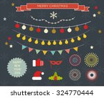 set of celebration christmas... | Shutterstock .eps vector #324770444