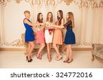 cheerful bride with her... | Shutterstock . vector #324772016
