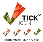 set of abstract ok and tick... | Shutterstock . vector #324779540