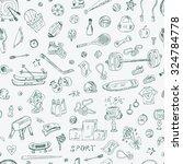 sports. vector seamless pattern ... | Shutterstock .eps vector #324784778