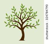 tree vector. olive tree.... | Shutterstock .eps vector #324784790
