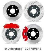 brake disc. vector isolated on... | Shutterstock .eps vector #324789848