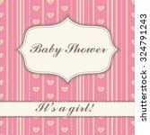 background with banner baby...   Shutterstock .eps vector #324791243
