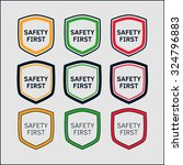 safety first icon in shape of... | Shutterstock . vector #324796883