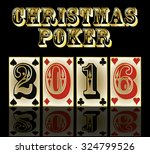 new 2016 year poker cards... | Shutterstock .eps vector #324799526