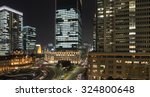 tokyo station and cityscape... | Shutterstock . vector #324800648
