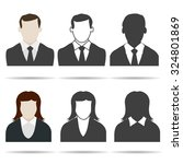 user icon set. human silhouette ... | Shutterstock .eps vector #324801869