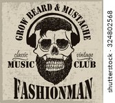grow beard and mustache label... | Shutterstock .eps vector #324802568