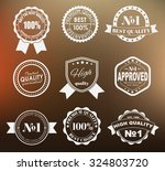 design of labels  emblems and... | Shutterstock .eps vector #324803720