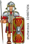 roman legionnaire soldier with... | Shutterstock .eps vector #324807656